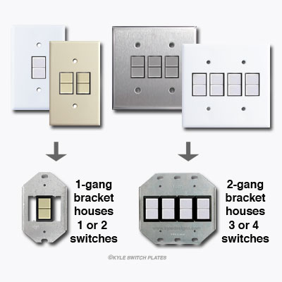 Bracket Mount GE Low Voltage Switches and Light Switch Covers