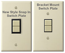 New Style vs. Bracket Mount Low Voltage GE Light Switches