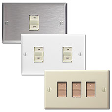 Vintage Bryant & GE Low Voltage Switches with New Switch Plates