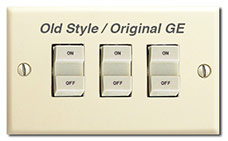 GE Original Old Style Vintage Switches in 1950s Homes