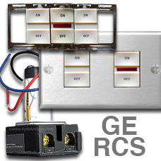 GE RCS Light Switches  sc 1 st  Kyle Switch Plates & Low Voltage Lighting System in Older Home - Identify Your Brand