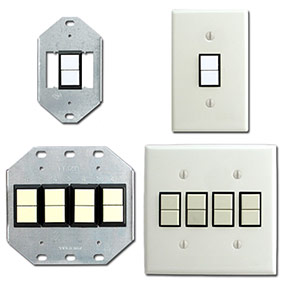Brackets for Low Voltage GE Switches: 1-2 Switches or 3-4 Switches