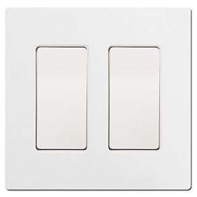 Blank Screwless Switch Plates with Rocker Fillers