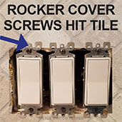 Get Too Long Decora Cover Screws to Tighten Properly