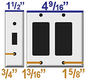 Compare Narrow Switchplate Sizes