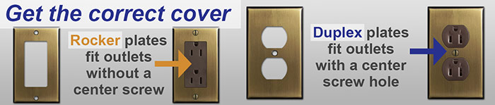 Brown Outlet Receptacles