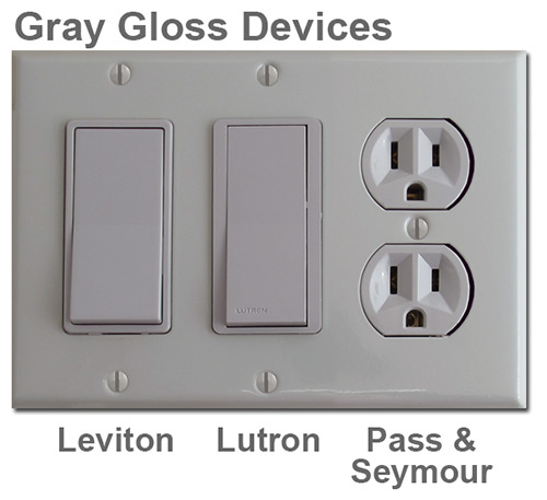 Gray Gloss Electrical Devices