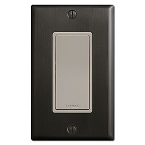 Gray and Dark Bronze Electrical Wall Plates