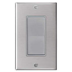Gray Switch - Polished Stainless Cover
