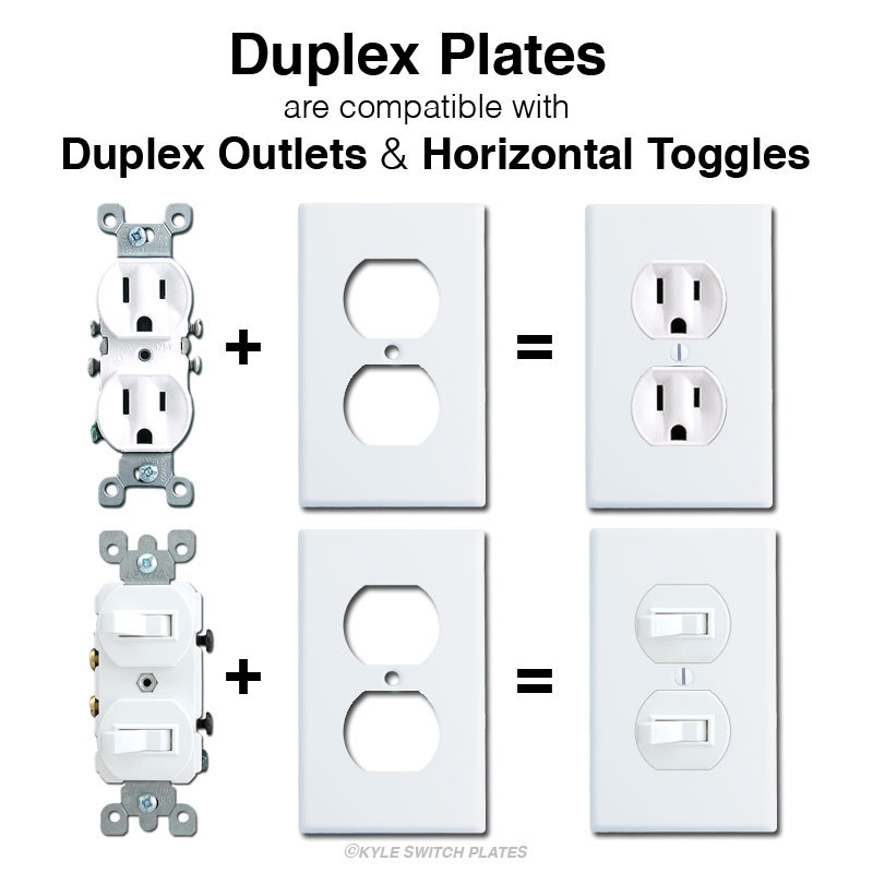 Horizontal Flip Toggle Light Switch Wall Plates