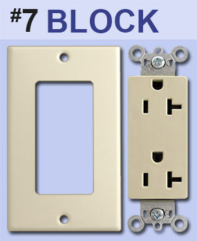 Identify Block Outlet Receptacle Opening