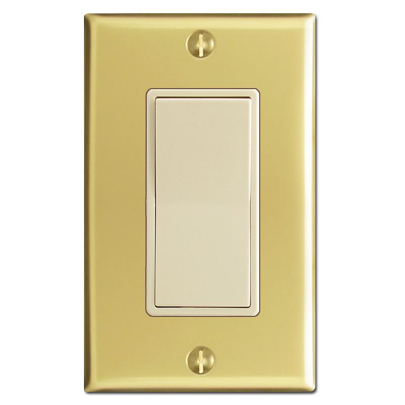 Polished Brass & Ivory