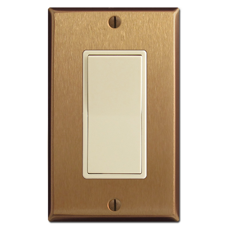 ivory u0026 satin bronze amerelle stamped steel rocker decorator wall plate amerelle 66r beveled mirror 1 rockergfci wall plate stamped round decorative