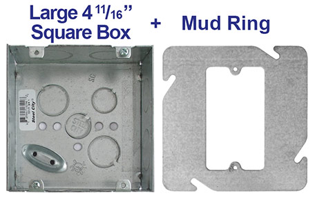 Mounting Single Device in Large Square Junction Box