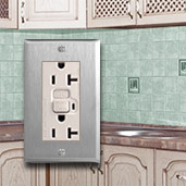 Light Almond U0026 Stainless Steel Kitchen Outlets