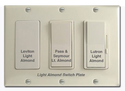 Almond Versus Ivory Electrical Device Comparison Pictures