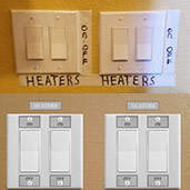 Light Switch Labels for Wall Plates