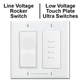 Line Voltage Rocker & Low Voltage Ultra Switch