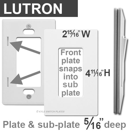 Snap On Screwless Lutron Outlet Covers