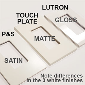 Compare Matte, Satin & Glossy Switch Plates