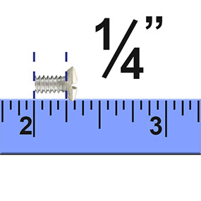 how to measure wall plate screws