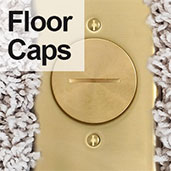 Measure Select Round Floor Outlet Cover Caps