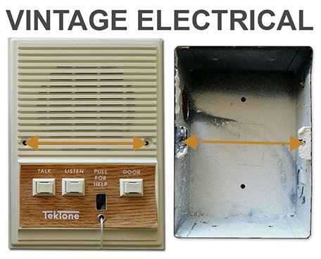 Vintage Electrical Box Covers in Odd Sizes