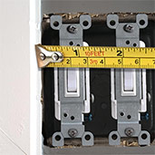 Measure Side Obstruction by Light Switches