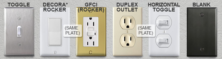 Most Common Switch & Outlet Plate Openings