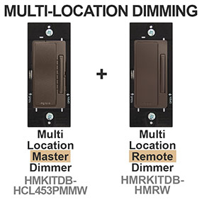 Multi-Location Dark Bronze Light Dimmers