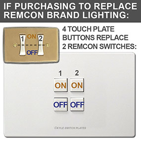 Mystique Touch Plate compatible with Remcon System Relays