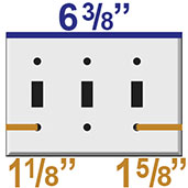Triple Gang Narrow Wall Plates