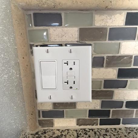 Narrow Switch Plate for Tile Backsplash