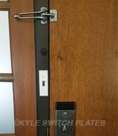 Narrow Light Switch Cover for Door Jamb