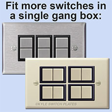 New GE glates fit more switches in single gang box
