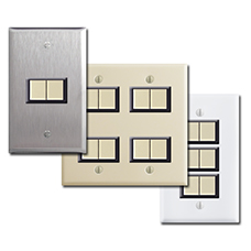 Replacement Low Voltage GE Light Switches with New Wall Plates