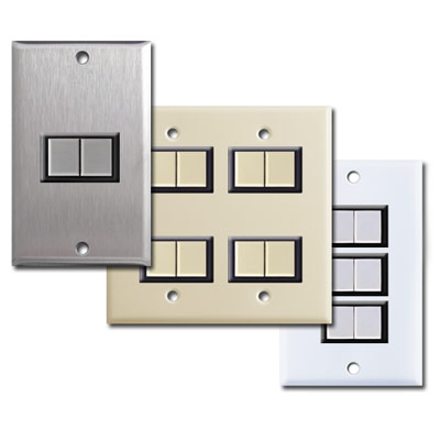 Replacement Low Voltage GE Light Switches with New Wall Plates  sc 1 st  Kyle Switch Plates & GE Low Voltage Light Switches Low Voltage Light Switch Covers Relays azcodes.com