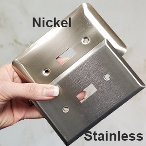 Nickel vs Stainless Switch Plates