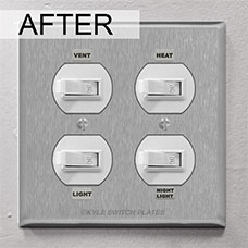New covers for NuTone bathroom switches