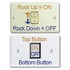 2 GE Low Volt Buttons Correlate with Old Style Rockers