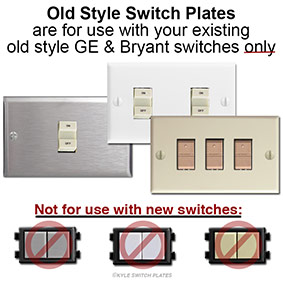Bryant & GE Old Low Voltage Light Switch Covers