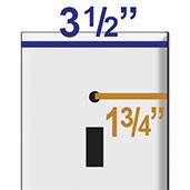 Oversize Wallplate Spacing