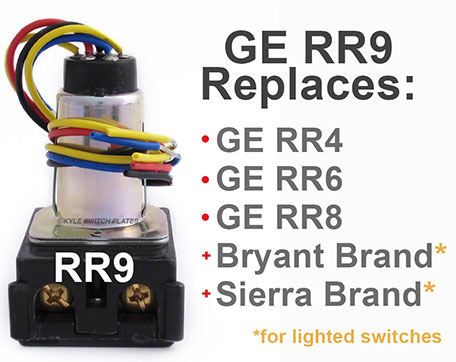 Is there a GE RR8 relay replacement? RR6? RR4? Ask Kyle Switch PlatesKyle Switch Plates