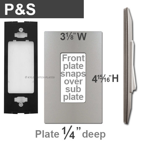 Pass & Seymour Screwless Wall Plate Dimensions
