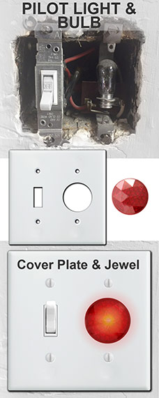 Pilot Light Illuminated Wall Plates
