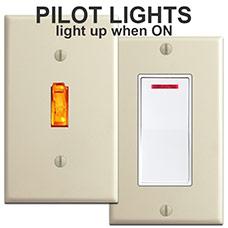 Illuminated Locator Light Switches