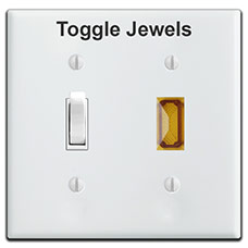 Pilot Light Toggle Jewels