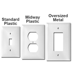 Quality White Plastic Switch Plates Unbreakable Made In Usa