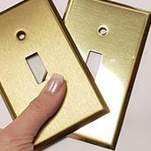 Polished vs Brushed Wall Plates
