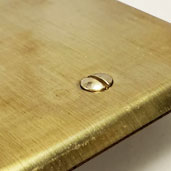 Switchplates in Raw Brass Finish